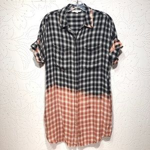BeachLunchLounge Collection Bleached Plaid Shirt